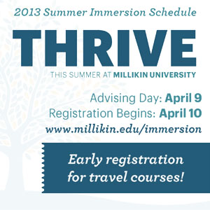 2013 Summer Immersion Schedule and Registration