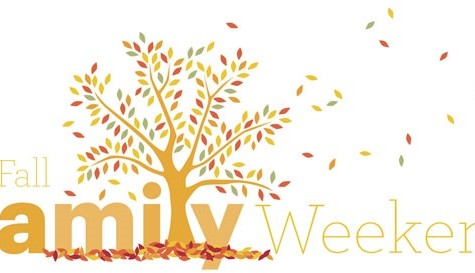 fall family weekend banner