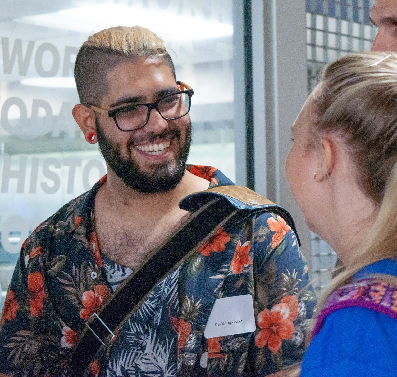 David Rojo Pérez (right) joking with Samantha Mool (left)
