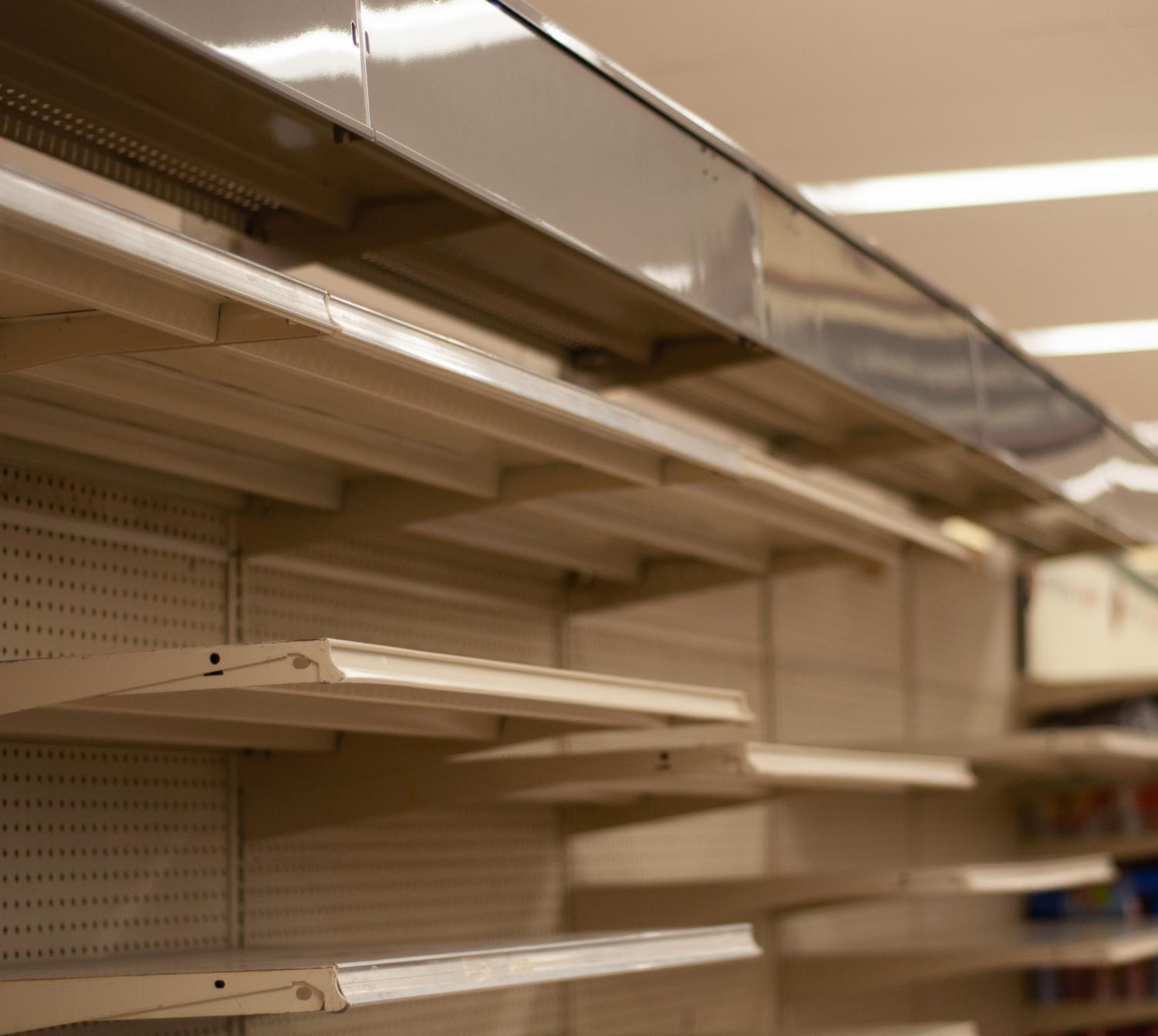 Rows upon rows of empty aisles are all that remain of Fairview's Kroger
