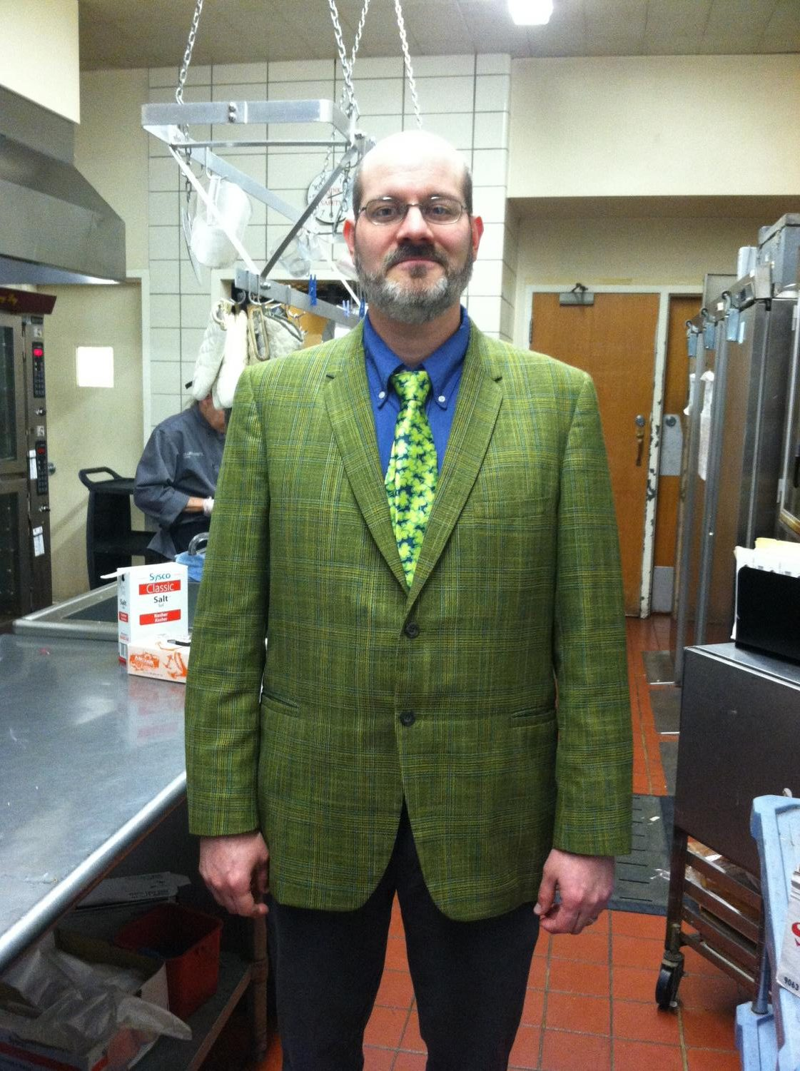 Chad Pramuk in His St. Patty's Day Sports Jacket