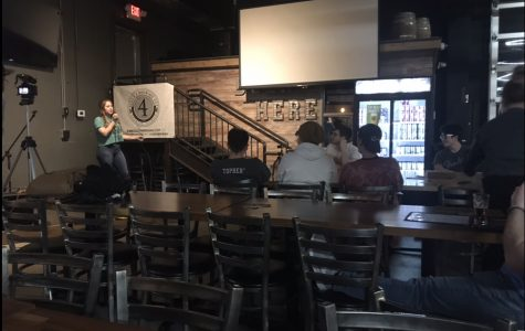 Nicole Dadoly performing her set at Door 4 Brewery