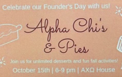 Alpha Chi's and Pies Aims to Help Victims of Domestic Violence