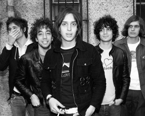 A photo of the Strokes from 2002.
