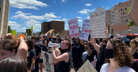 A protest in honor of #BlackLivesMatter in Peoria, Illinois
