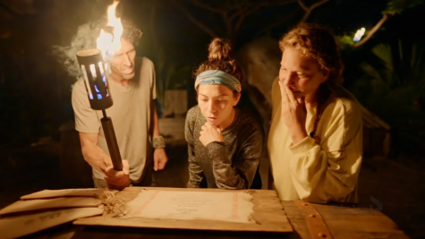 Brad Reese, Sydney Segal, and Tiffany Seely in Survivor 41.